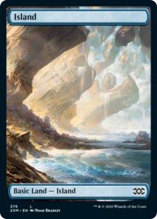 Island (2) (foil) (full art)