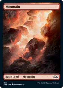Mountain (2) (foil) (full art)