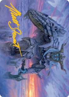Art Card 05: Rimeshield Frost Giant (signed)