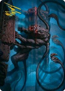 Art Card 08: Displacer Beast (signed)