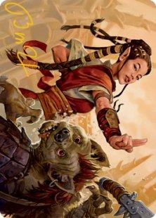 Art Card 28: Half-Elf Monk
