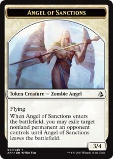 Angel of Sanctions embalm token (3/4)