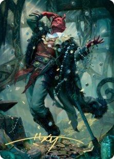 Art Card 67: Tibalt, Cosmic Imposter (signed)