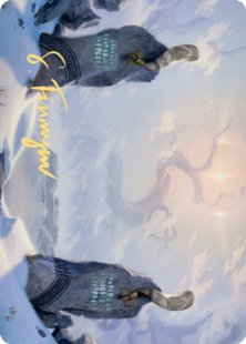 Art Card 74: Snow-Covered Plains