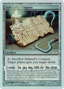 Ashnod's Coupon (foil)