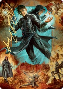 Art Card 02: Jace, Mirror Mage (2) (signed)
