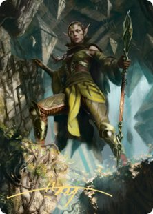 Art Card 05: Nissa of Shadowed Boughs (1) (signed)
