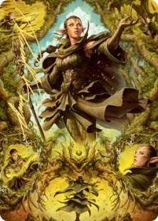 Art Card 06: Nissa of Shadowed Boughs (2) (signed)