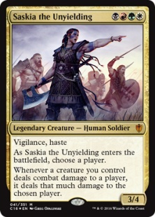 Saskia the Unyielding (foil)
