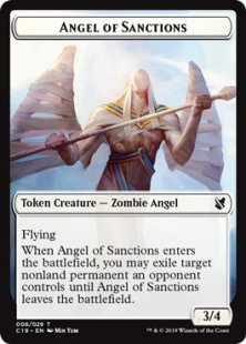 Angel of Sanctions embalm token (3/4)