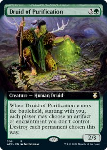 Druid of Purification (extended art)