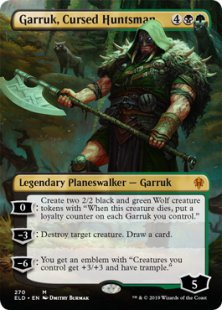 Garruk, Cursed Huntsman (borderless)