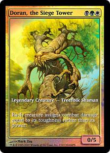 Doran, the Siege Tower (foil) (full art)
