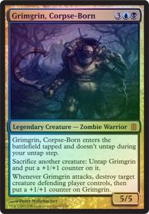 Grimgrin, Corpse-Born (foil) (oversized)