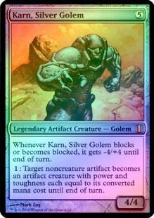 Karn, Silver Golem (foil) (oversized)