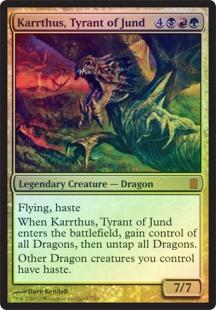 Karrthus, Tyrant of Jund (foil) (oversized)