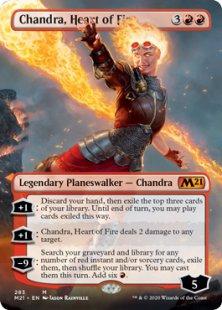 Chandra, Heart of Fire (1) (foil) (borderless)