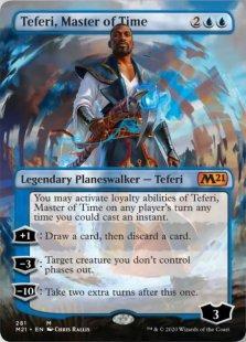 Teferi, Master of Time (1) (foil) (borderless)