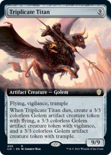 Triplicate Titan (extended art)