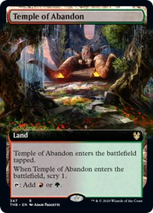 Temple of Abandon (foil) (extended art)