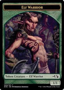 Elf Warrior token (1/1)