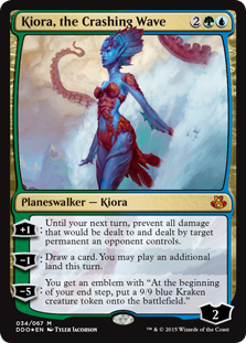 Kiora, the Crashing Wave (foil)