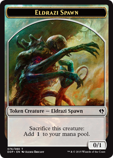 Eldrazi Spawn token (1) (0/1)
