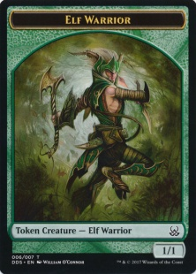 Elf Warrior token (1/1)