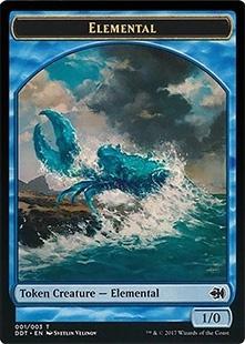 Elemental token (1/0)