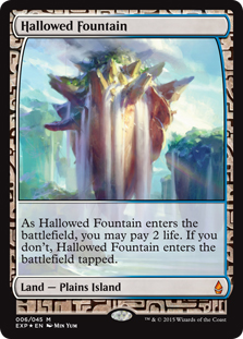 Hallowed Fountain (foil) (full art)