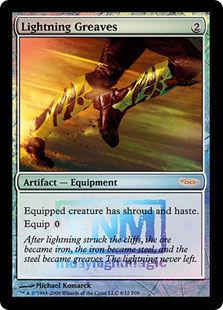 Lightning Greaves (foil)