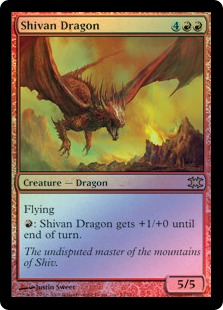 Shivan Dragon (foil)