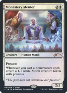 1 x MTG Monastery Mentor Fate Reforged Slightly Played English