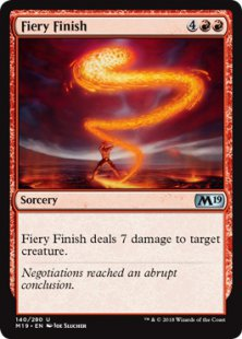 Fiery Finish (foil)