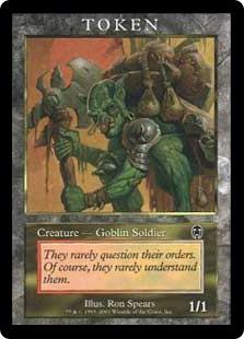 Goblin Soldier token (1/1)