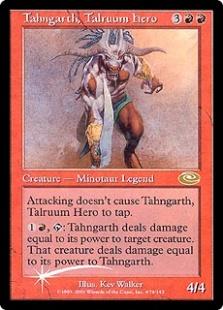 Tahngarth, Talruum Hero (alt. art) (foil)