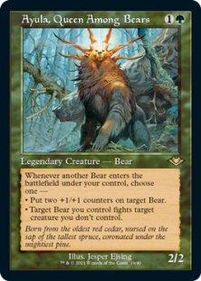 Ayula, Queen Among Bears (retro frame) (foil) (showcase)