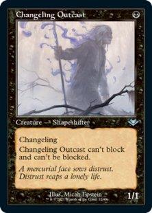 Changeling Outcast (retro frame) (foil-etched) (showcase)