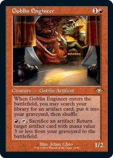 Goblin Engineer (retro frame) (foil-etched) (showcase)