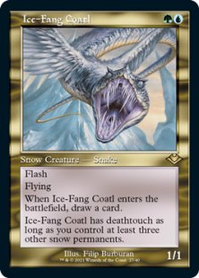 Ice-Fang Coatl (retro frame) (foil) (showcase)