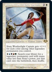 Sisay, Weatherlight Captain (retro frame) (foil) (showcase)