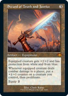 Sword of Truth and Justice (retro frame) (foil) (showcase)