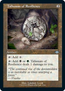 Talisman of Resilience (retro frame) (foil-etched) (showcase)