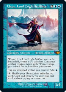 Urza, Lord High Artificer (retro frame) (foil-etched) (showcase)