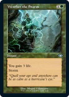 Weather the Storm (retro frame) (foil-etched) (showcase)