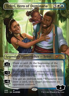 Teferi, Hero of Dominaria (Black is Magic) (borderless)