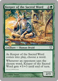 Keeper of the Sacred Word (foil)