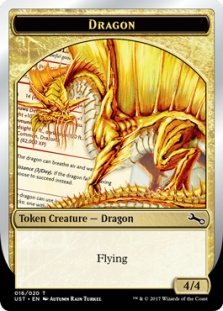 Dragon token (foil) (4/4)