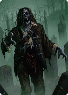 Zombie token (foil) (2/2 full art)
