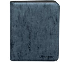 Premium Pro 9 Pocket Zippered Binder Suede Collection: Sapphire